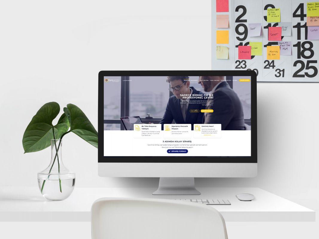 Euroversity Çeviri Web Site Tasarımı