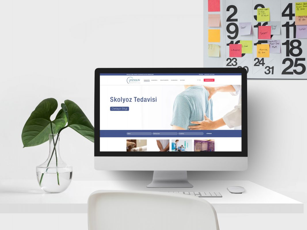 Fizyoliv Fizyoterapi Merkezi web site tasarımı